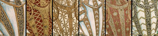 Details from six different armour designs in the Almain Armourers' Album. © Victoria and Albert Museum, London