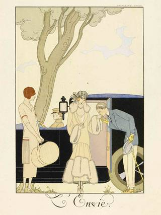 Photo of Falbalas et Fanfreluches. Almanach des modes…, fashion plate, George Barbier, 1924, France. Museum no. E.626-1954. © Victoria and Albert Museum, London