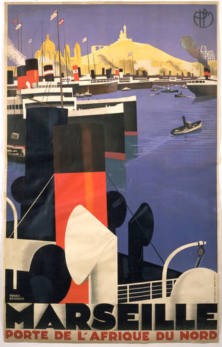 Photo of Marseille Porte de l'Afrique du Nord, poster, Roger Broders, 1920, France. Museum no. E.3642-1932. © Victoria and Albert Museum, London