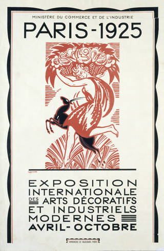 Photo of Exposition Internationale des Arts Décoratifs, poster, Robert Bonfils, 1925, France. Museum no. E.1200-1925. © Victoria and Albert Museum, London