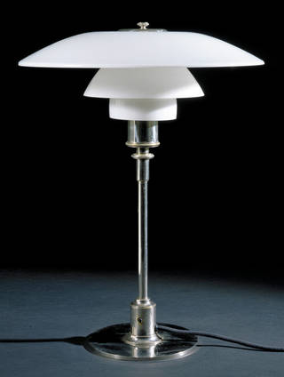 Photo of Table lamp, designed by Poul Henningsen, made by Louis Poulsen, 1927, Denmark. Museum no. M.26-1992. © Victoria and Albert Museum, London