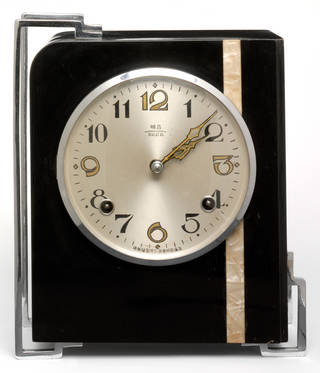 Photo of Clock, B.E. Co, about 1935, China. Museum no. FE.565:1&2-2007. © Victoria and Albert Museum, London