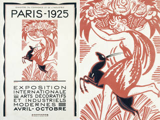 Woodblock poster, Robert Bonfils, 1925, France. Museum no. E.1200-1925. © Victoria & Albert Museum, London