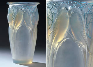 Ceylan, vase, designed by René Jules Lalique, made by Lalique glassworks, 1924, France. Museum no. CIRC.755-1969. © Victoria & Albert Museum, London