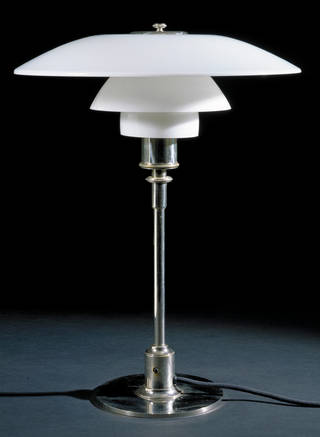 Table lamp, designed by Poul Henningsen, made by Louis Poulsen, 1927, Denmark. Museum no. M.26-1992. © Victoria & Albert Museum, London