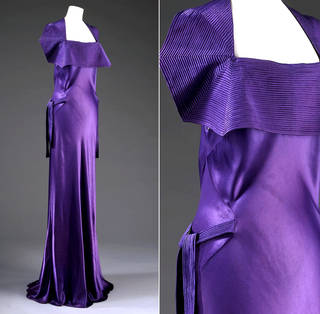 Evening dress, Jeanne Lanvin, 1935, France. Museum no. T.340-1965. © Victoria and Albert Museum, London