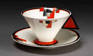 Cup and saucer, designed by Eric Slater, manufactured by Shelley Potteries, 1930 – 1931, England. Museum no. C.162:1&2-2003. © Victoria and Albert Museum, London