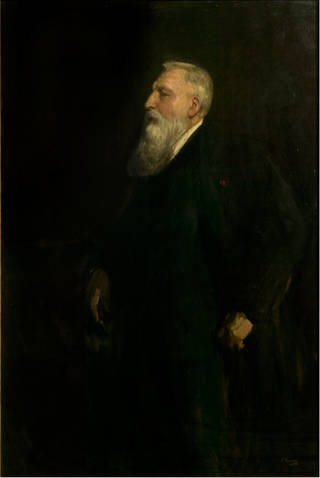 Auguste Rodin, Sir John Lavery, oil painting, 1913, England. Museum no. P.18-1914. © Victoria and Albert Museum, London