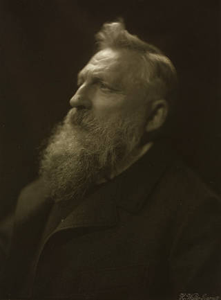 Auguste Rodin, photograph, H. Walter Barnett, 1902. Museum no. 377-1952. © Victoria and Albert Museum, London