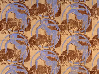Europa and the Bull, furnishing fabric, designed by Frank Dobson, printed by Mary Dobson, 1938, England. Museum no. CIRC.104-1939. © Victoria and Albert Museum, London