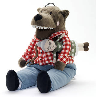 Photo of Lufsig, soft toy, designed by Silke Leffler, retailed by IKEA Limited, 2013, Sweden. Museum no. CD.26:1&2-2014. © Victoria and Albert Museum, London