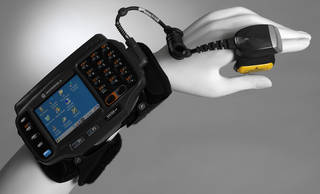 Photo of WT41N0, wearable terminal, Motorola Solutions, 2013, US. Museum no. CD.39:1 to 19-2014. © Victoria and Albert Museum, London