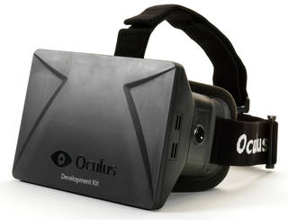Photo of Oculus Rift, virtual reality headset, invented by Palmer Luckey, manufactured by Oculus VR, Inc., 2014, US. Museum no. CD.49:1 to 20-2014. © Victoria and Albert Museum, London