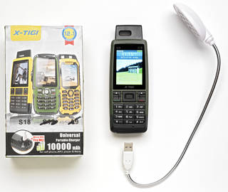 Photo of X-TIGI S18, mobile telephone, manufactured by X-TIGI, about 2010, China. Museum no. CD.19:1-6-2015. © Victoria and Albert Museum, London