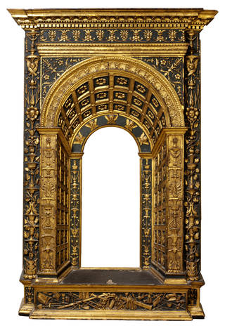 Photo of Tabernacle frame, carved, painted and gilded, 1475 – 1500, Italy. Museum no. 5893-1859. © Victoria and Albert Museum, London