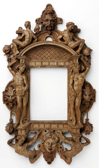 Photo of Mannerist frame, carved oak, originally painted and gilded, about 1550 – 80, Belgium or the Netherlands. Museum no. 1605-1855. © Victoria and Albert Museum, London