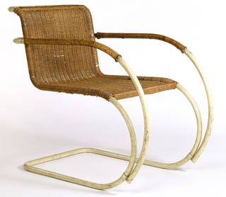 Photo of MR20, armchair, designed by Ludwig Mies van der Rohe, manufactured by Thonet, 1927, Germany. Museum no. T.40:1&2-2005. © Victoria and Albert Museum, London