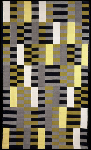 Photo of Hanging, designed by Gunta Stölzl, 1926, weaved by Anna Albers, 1967, Germany. Museum no. CIRC.534-1968. © Victoria and Albert Museum, London