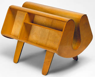 Photo of Penguin Donkey, bookcase, designed by Egon Riss, manufactured by Isokon Furniture Company, 1939, England. Museum no. W.19:1 to 3-1993. © Victoria and Albert Museum, London