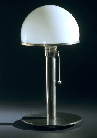 Photo of MT8, table lamp, Wilhelm Wagenfeld, about 1924, Germany. Museum no. M.28&A-1989. © Victoria and Albert Museum, London