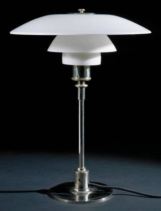 Table lamp, designed by Poul Henningsen, made by Louis Poulsen, 1927, Denmark. Museum no. M.26-1992. © Victoria and Albert Museum, London