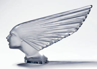 Photo of Victoire, radiator mascot, designed by René Jules Lalique, manufactured by Lalique glassworks, about 1925, France. Museum no. CIRC.199-1972. © Victoria & Albert Museum, London