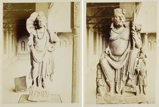 Photographs depicting Greco-Buddhist statues of kings, dated about AD 1-2, Gandhara (now Peshawar), Pakistan, unknown photographer, about 1880, albumen prints. Museum no. PH.991; 992-1908. © Victoria and Albert Museum, London