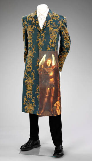 Photo of Suit, Alexander McQueen, 1997, Italy. Museum no. T.90:1&2-2011. © Victoria and Albert Museum, London