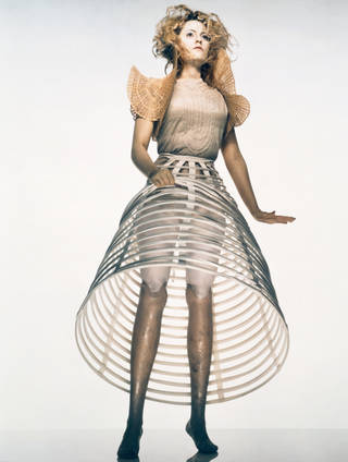 Photo of Aimee Mullins for Dazed & Confused, photograph by Nick Knight, art direction by Alexander McQueen, 1998, Britain. Museum no. E.633-1998. © Victoria and Albert Museum, London