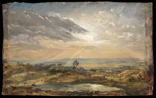 Branch Hill Pond, Hampstead, oil painting, John Constable, 1821 – 1822, England. Museum no. 125-1888. © Victoria and Albert Museum, London