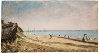 Brighton Beach, oil painting, John Constable, 1824, England. Museum no.  335-1888. © Victoria and Albert Museum, London