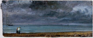 Brighton Beach, oil sketch, John Constable, 1824, England. Museum no. 783-1888. © Victoria and Albert Museum, London