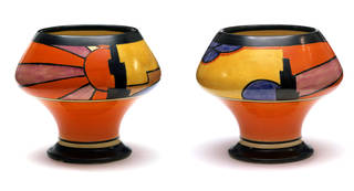 Sunray (front and back), vase, designed by Clarice Cliff, manufactured by Newport Pottery Co. Ltd, 1929, UK. Museum no. C.74-1976. © Victoria and Albert Museum, London