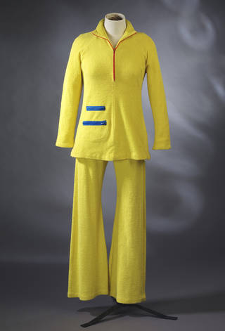 Yellow towelling beach outfit with jacket, Foale and Tuffin, 1968, England. Museum no. T.197:2-1991. © Victoria and Albert Museum, London