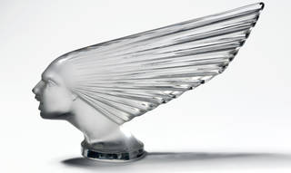 Spirit of the Wind, car mascot, designed by René Jules Lalique, manufactured by Lalique glassworks, about 1925, France. Museum no. CIRC.199-1972. © Victoria & Albert Museum, London