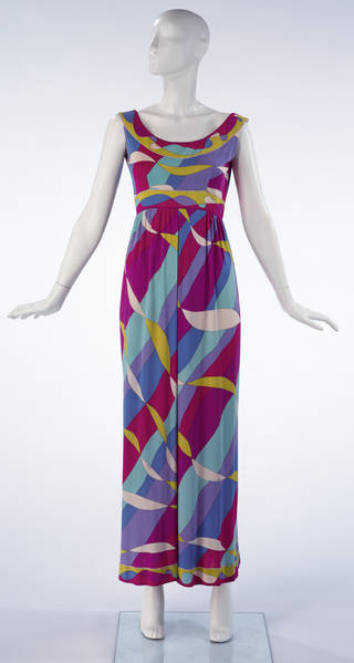 Photo of Maxi length culotte evening dress, Emilio Pucci, 1968. Italy. Museum no. T.337-1997. © Victoria and Albert Museum, London