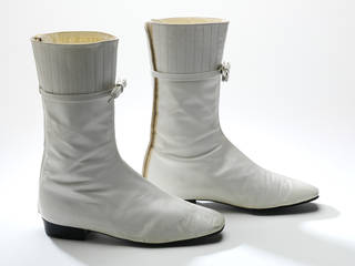 Photo of Leather ankle boots, André Courrèges, 1965, France. Museum no. T.109-1974. © Victoria and Albert Museum, London