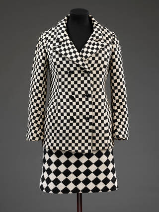 Photo of Skirt suit, Foale and Tuffin, 1964, England. Museum no. T.43:1-2010/T.43:2-2010. © Victoria and Albert Museum, London