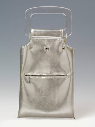 Photo of Silvered plastic bag, designed by Sally Jess, 1966, England. Museum no. T.332-1982. © Victoria and Albert Museum, London