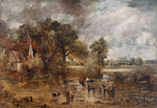 Photo of Full-Scale Study for The Hay Wain, John Constable, about 1821, England. Museum no. 987-1900. © Victoria and Albert Museum, London