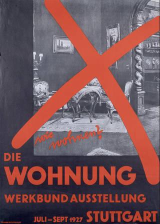 Wie Wohnen? Die Wohnung Werkbund Ausstellung, poster, Willi Baumeister, 1927, Germany. Museum no. E.266-2005. © Victoria and Albert Museum, London
