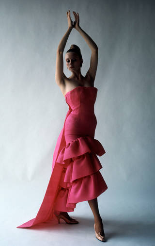 Flamenco-style evening dress, Cristóbal Balenciaga, Paris, 1961. Photograph by Cecil Beaton, 1971 © Cecil Beaton Studio Archive at Sotheby's