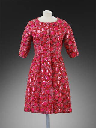 Coat, Cristóbal Balenciaga, embroidered by Lesage, 1961, Paris. Museum no. T.24-1974.  © Victoria and Albert Museum, London