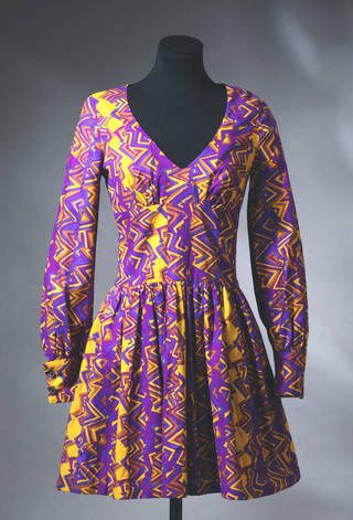 Photo of Mini-dress, Biba, 1967, England. Museum no. T.12-1982. © Victoria and Albert Museum, London