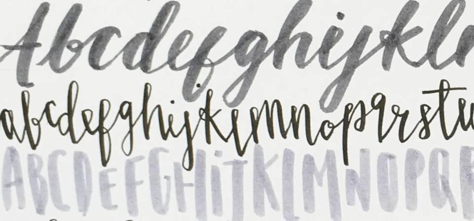 V a · modern calligraphy brush lettering workshop