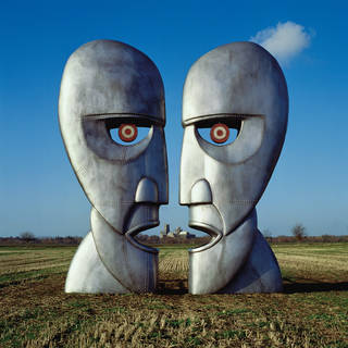 Album artwork, The Division Bell, 1994. Design by Storm Thorgerson at StormStudios. Sculptures by Aden Hynes and John Robertson. Photographs by Tony May / Rupert Truman / Stephen Piotrowski