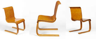 Chair, designed by Alvar Aalto, manufactured by Huonekalu-ja Rakennustyötehdas Oy, 1932 – 3, Finland. Museum no. W.39-1981. © Victoria and Albert Museum, London
