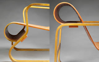 Paimio Armchair (details), designed by Alvar Aalto, manufactured by Huonekalu-ja Rakennustyötehdas Oy, 1930, Finland. Museum no. W.41-1987. © Victoria and Albert Museum, London