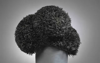 Hat, Cristóbal Balenciaga, sheared ostrich feathers, 1955 – 60, Paris. Museum no. T.60-1974. © Victoria and Albert Museum, London