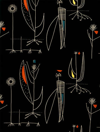 Photo of Herb Antony, furnishing fabric, Lucienne Day, 1956, England. Museum no. CIRC.482-1956. © Robin and Lucienne Day Foundation/Victoria and Albert Museum, London